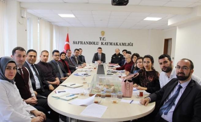 """Safranbolu'da """"Uyuşturucu ve Bağımlılıkla Mücadele"""" toplantısı"""