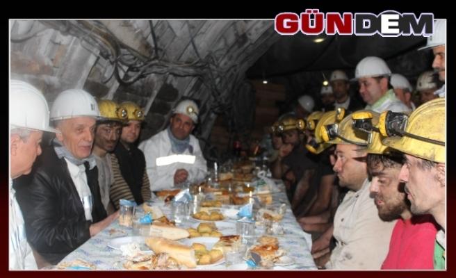 Türk-İş Başkanı yılın son saatlerini madende geçirdi
