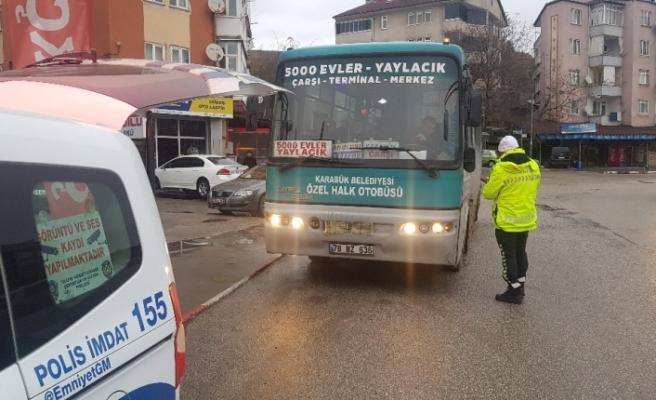 Yaşanan kaza sonrası halk otobüsleri denetimi arttı