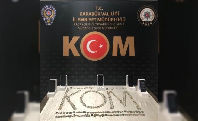 Karabük'te 558 adet tarihi eser ele geçirildi
