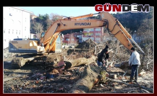 Kazıda bulunan top mermileri imha edildi!..