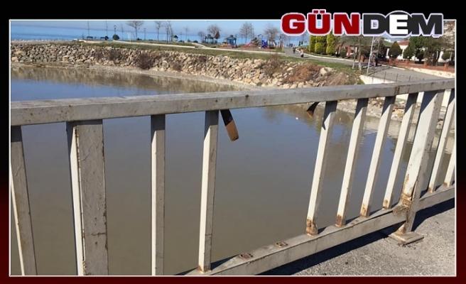 Köprü korkuluğu yapılmayı bekliyor