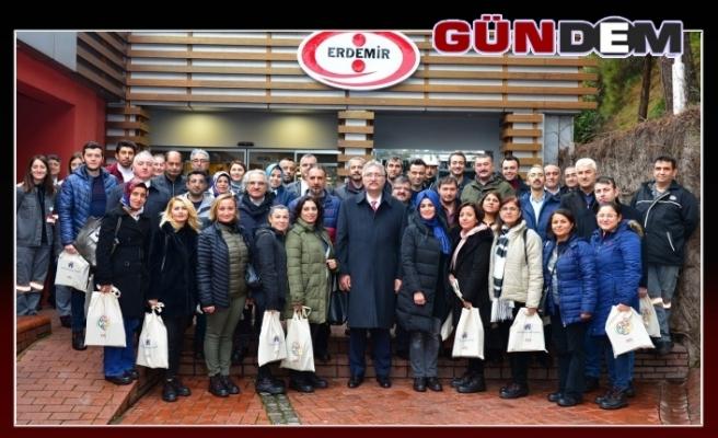 Yarıyıl tatilindeki öğretmenler Erdemir'i gezdi