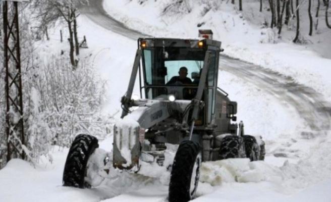 Düzce'de 85 köy yolu kapalı