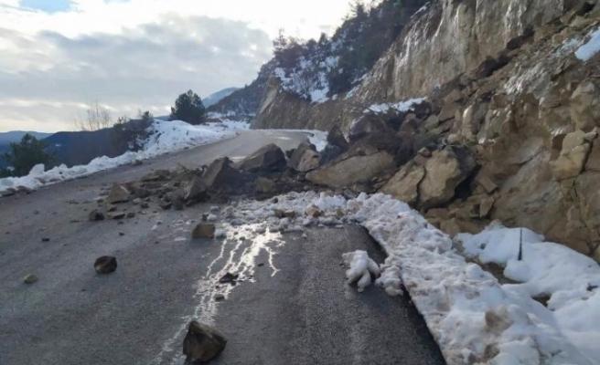 Karabük'te yağışlar sonrası heyelanlar meydana geldi
