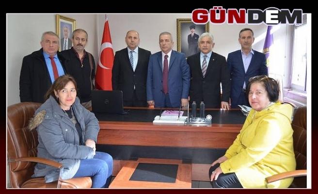 MHP HEYETİNDEN ÇOŞKUN'A ZİYARET