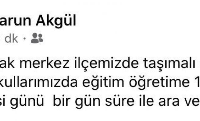 Zonguldak'ta taşımalı eğitime kar engeli