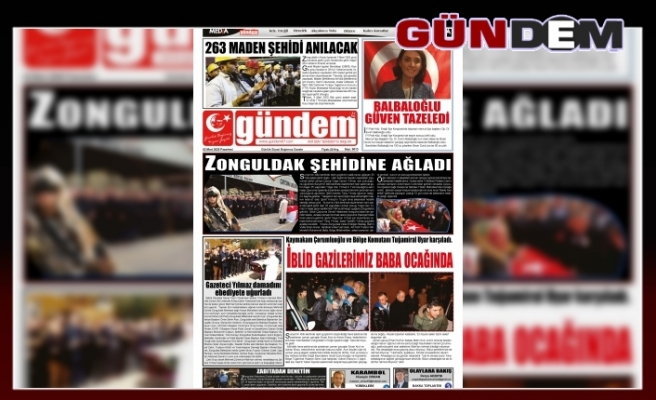 02 Mart 2020 PAZARTESİ GÜNDEM GAZETESİ