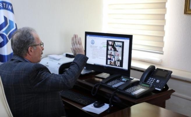 Bartın Üniversitesi'ndeki toplantılar video konferans yoluyla yapılıyor