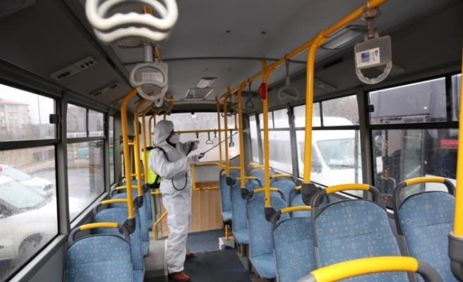 Bartın'da toplu taşımada tedbirler artırıldı
