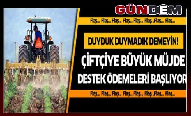 Çiftçiye büyük müjde!...