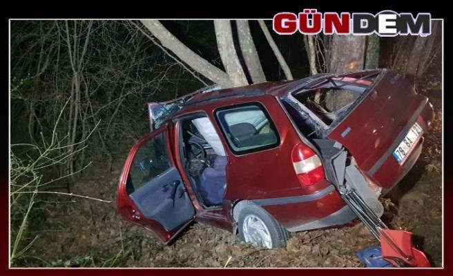 Otomobil ağaca çarptı: 1 ölü