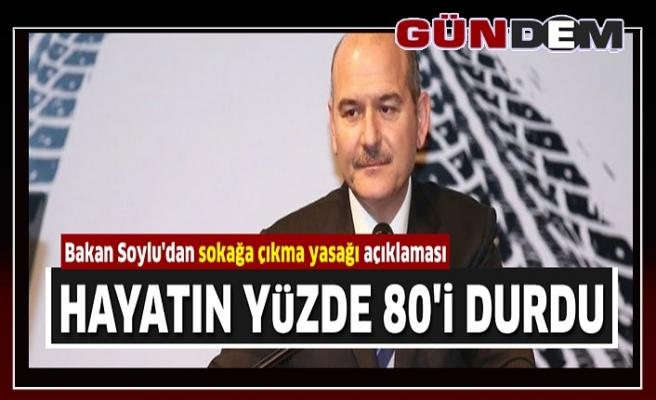 TÜRKİYE'DE HAYATIN YÜZDE 80'İ DURDU...