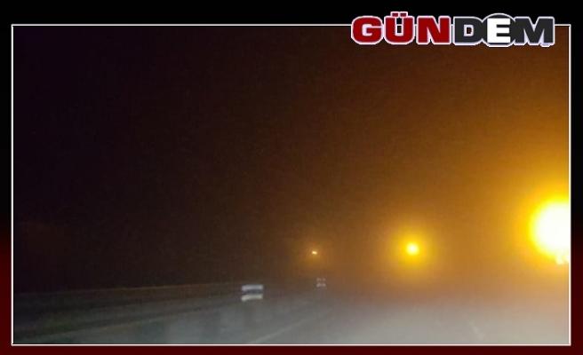 Zonguldak-Ereğli yolunda sis! Sürücüler dikkat!...