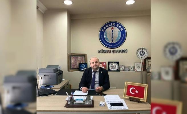 """Sağlık-Sen Düzce Başkanı Özal """"Sağlık çalışanları desten yazıyor"""""""