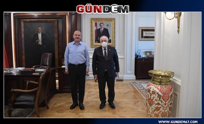 Hüseyin Özbakır, Soylu'yu ziyaret etti...