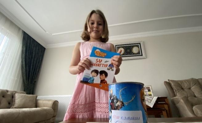Evlerinde okudukları her bir kitap için AFAD'a para bağışlıyorlar