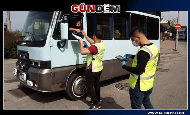 Zonguldak'ta Toplu Taşıma Araçları Denetlendi...