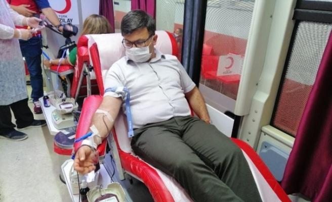 Düzce Gençlik ve Spor Müdürlüğü kan bağışına destek oldu