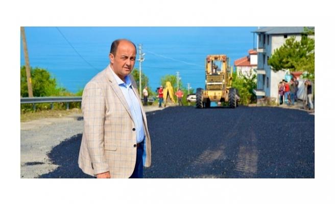 Gülüç'e 400 ton sıcak asfalt döküldü