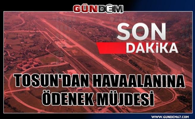 Havaalanı için 6 milyon 300 bin lira para geldi