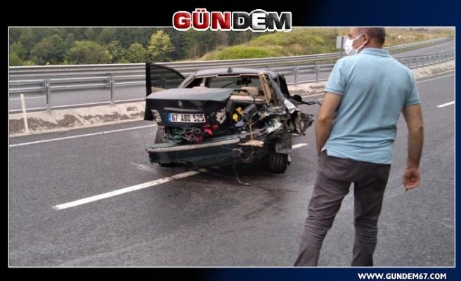 Zonguldak-Ereğli Karayolu'nda Kaza!...