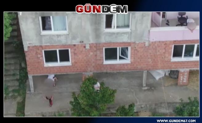 Zonguldak'ta drone ile devriye dönemi...