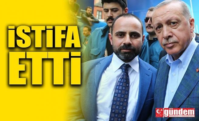 AK PARTİ'DE SÜRPRİZ İSTİFA...
