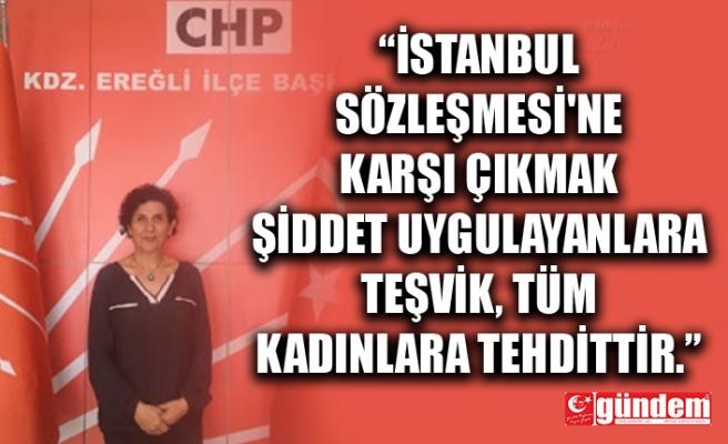 CHP KDZ. EREĞLİ KADIN KOLLARI BAŞKANI'NDAN BASIN AÇIKLAMASI