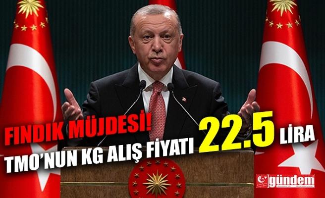 CUMHURBAŞKANI ERDOĞAN'DAN FINDIK ÜRETİCİSİNE MÜJDE...