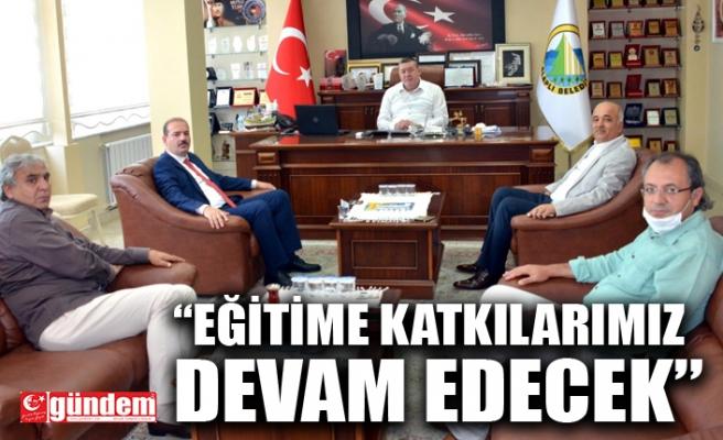 İL MİLLİ EĞİTİM MÜDÜRÜ TOSUN'DAN BELEDİYE BAŞKANI TEKİN'E ZİYARET