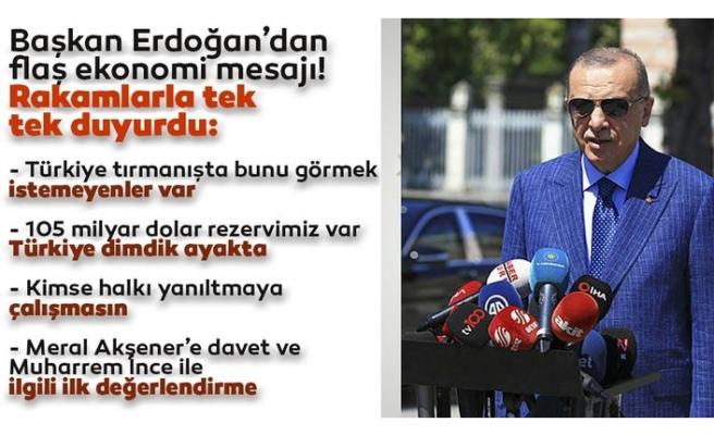 Başkan Erdoğan'dan ekonomi mesajı: Türkiye dimdik ayakta! Kimse halkımızı yanıltmaya kalkmasın...