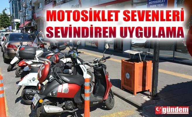 EREĞLİ'DE 5 NOKTADA ÜCRETSİZ MOTOSİKLET PARK ALANI DÜZENLENDİ