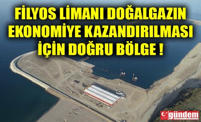FİLYOS LİMANI DOĞAL GAZIN EKONOMİYE KAZANDIRILMASI İÇİN DOĞRU BÖLGE !