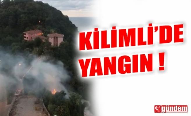 KİLİMLİ'DE YANGIN !