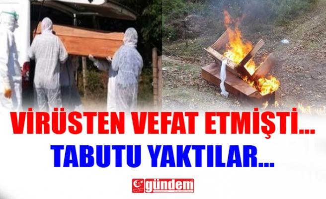 ÖNCE DEFNEDİLDİ, SONRA TABUTU YAKILDI...