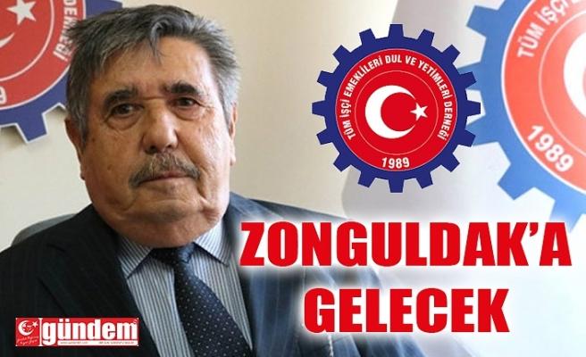 Tüm İşçi Emeklileri Dul ve Yetimleri Derneği Genel Başkanı Satılmış Çalışkan Zonguldak'a Geliyor