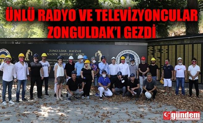 ÜNLÜ RADYO VE TELEVİZYON PROGRAMCILARI ZONGULDAKTAYDI...