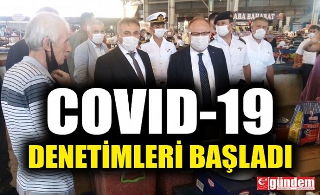 ZONGULDAK'TA COVID-19 DENETİMLERİ BAŞLADI