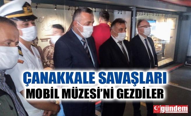 ZONGULDAK'TA PROTOKOL ÇANAKKALE SAVAŞLARI MOBİL MÜZESİNDE...