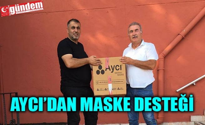 AYCI'DAN KÖMÜRSPOR'A SEZON BOYU YETECEK MASKE DESTEĞİ