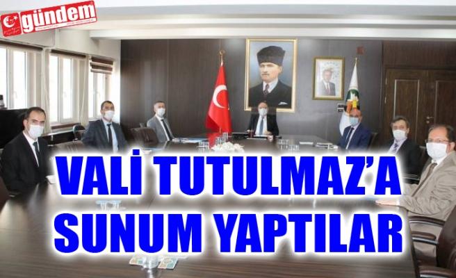BAKKA TARAFINDAN VALİ TUTULMAZ'A SUNUM YAPILDI