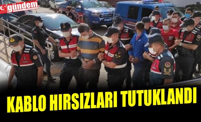 KABLO HIRSIZLARI TUTUKLANDI