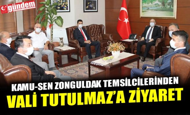 KAMU-SEN ZONGULDAK TEMSİLCİLERİNDEN VALİ TUTULMAZ'A ZİYARET