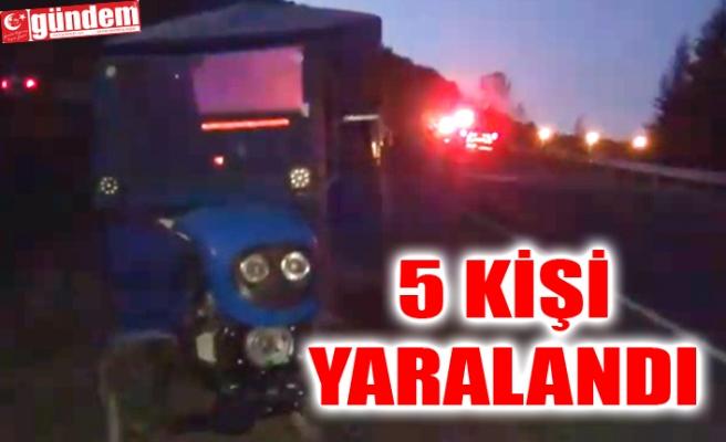 MEYDANA GELEN PATPAT KAZASINDA 5 KİŞİ YARALANDI