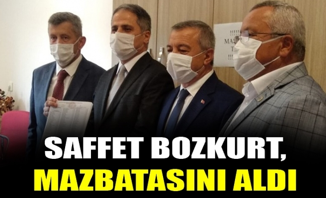 SAFFET BOZKURT MAZBATASINI ALDI