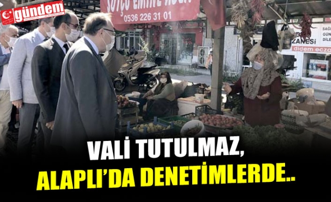 VALİ TUTULMAZ, ALAPLI'DA DENETİMLERDE...