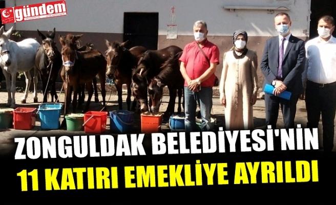 ZONGULDAK BELEDİYESİ'NİN 11 KATIRI EMEKLİYE AYRILDI