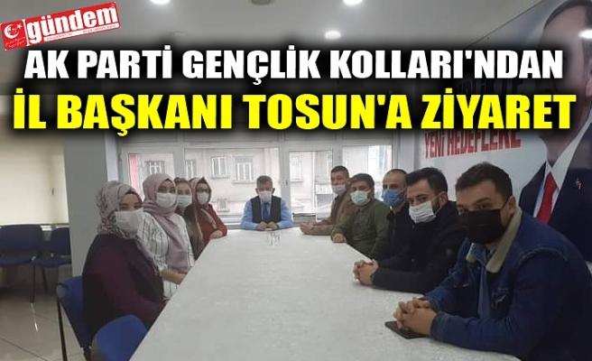 AK PARTİ GENÇLİK KOLLARI'NDAN İL BAŞKANI TOSUN'A ZİYARET