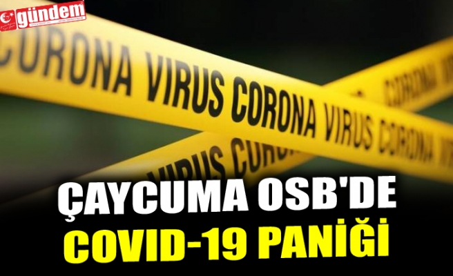 ÇAYCUMA OSB'DE COVID-19 PANİĞİ